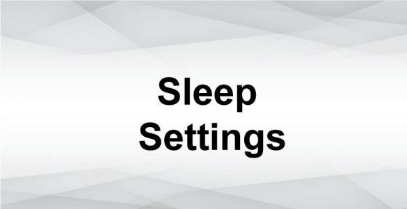 Mac sleep settings