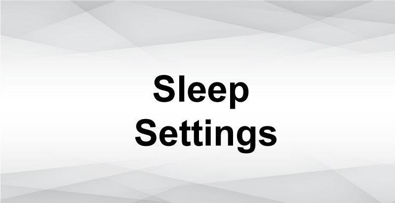 Setting Mac sleep and wake settings