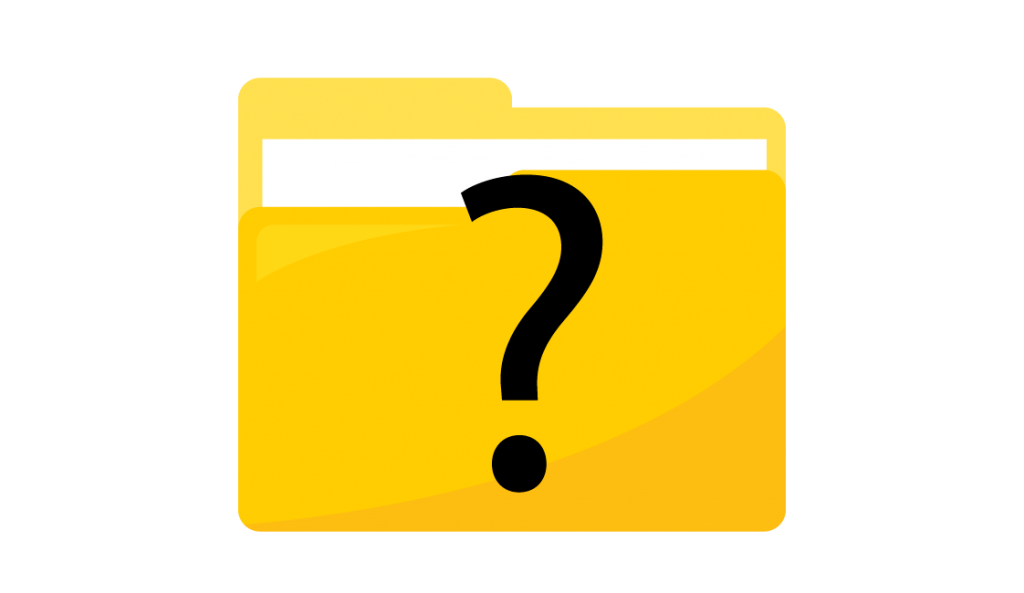 What does question mark on folder mean