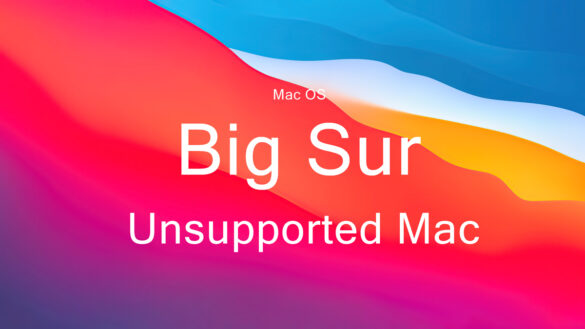 mac os bug sur unsupported on mac