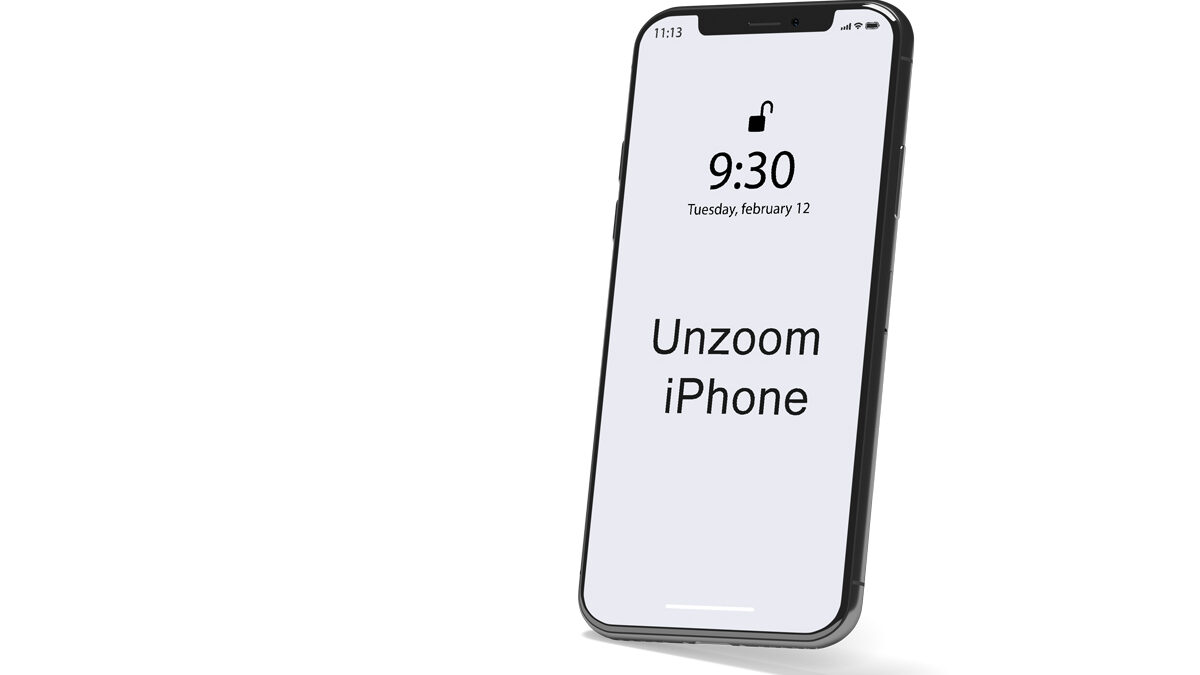 How to Unzoom iPhone